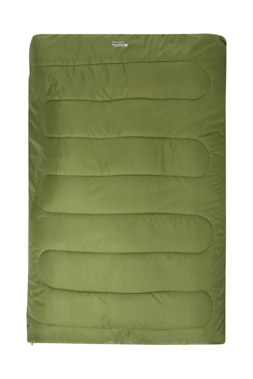 Mountain Warehouse BasecampダブルSleeping Bag – Insulatedキャンピングベッドライム B01GTNDY4U