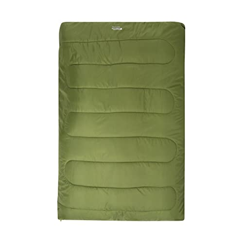 Mountain Warehouse Basecamp 200 Double Sleeping Bag - Easy To Pack Camping Bag, Insulated Mattress, Machine Washable Essential - For Summer Backpacking, Travelling & Hiking