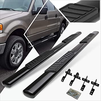For Ford F150 12th Gen Supercrew Cab 3 Side Step Nerf Bar Running Board Black