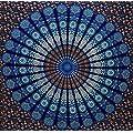 Globus Choice Inc Blue Queen Mandala Tapestry Indian Hippie Wall Hanging Bohemian Wall Hanging Bedspread Beach Coverlet Throw Decor Art