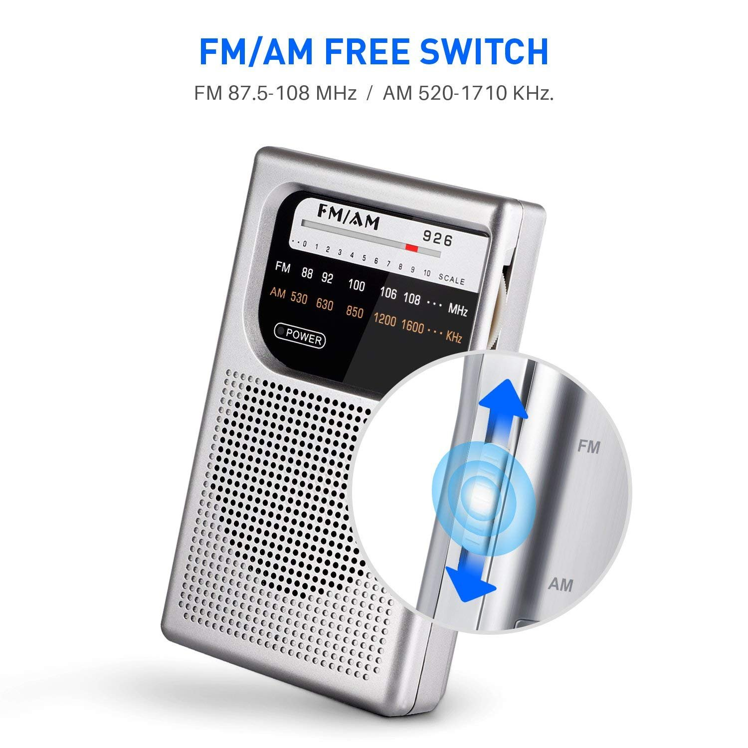 Am Fm Pocket Radio Mini Portable With An External Amplifier You Need To Supply A Speakers Sp2003 Superior Reception And Clear Sound Battery Operated 35mm Headphone Jack