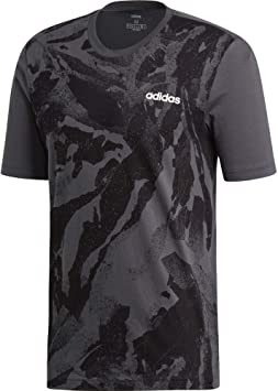 adidas Essentials Allover Print T T Shirt Manches Courtes