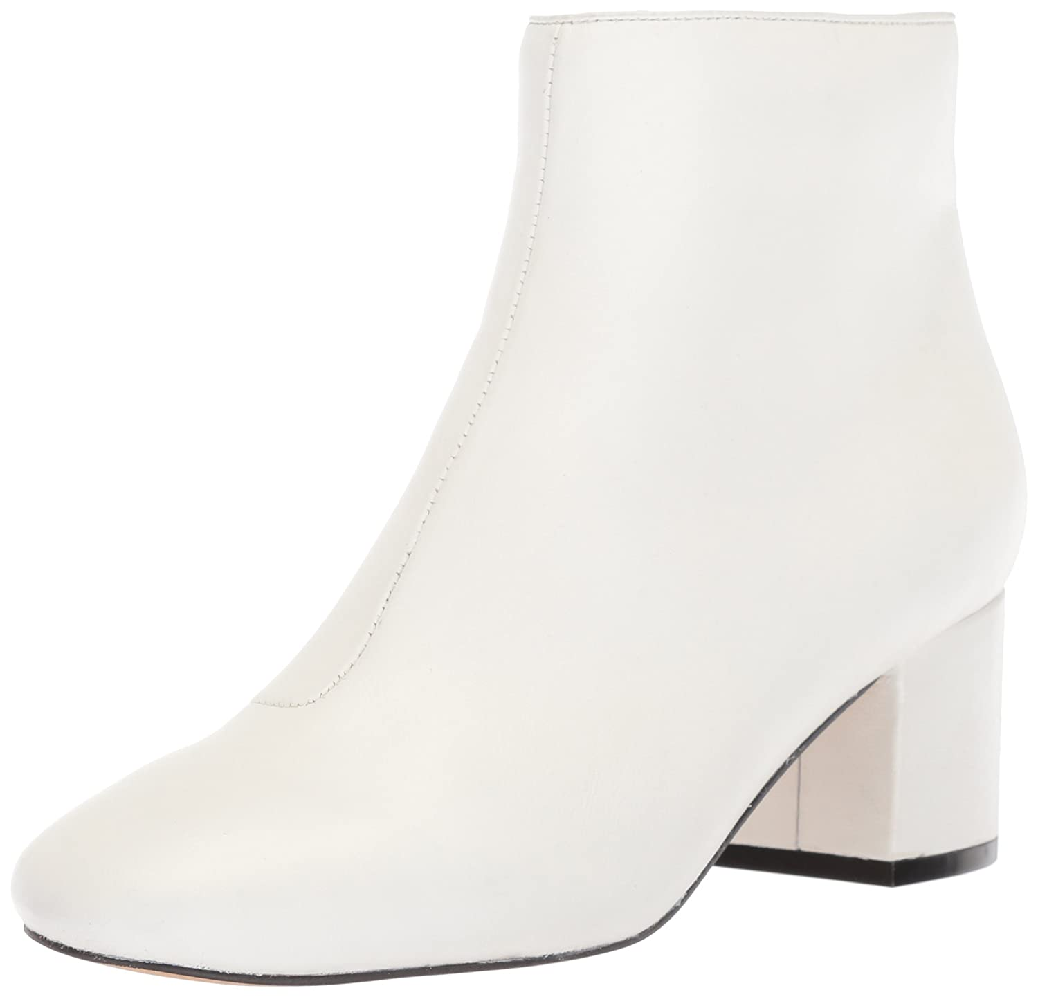 The Fix Women's Daniella Block-Heel Bootie Ankle Boot B076ZZDSLH 7 B(M) US|Bright White Leather