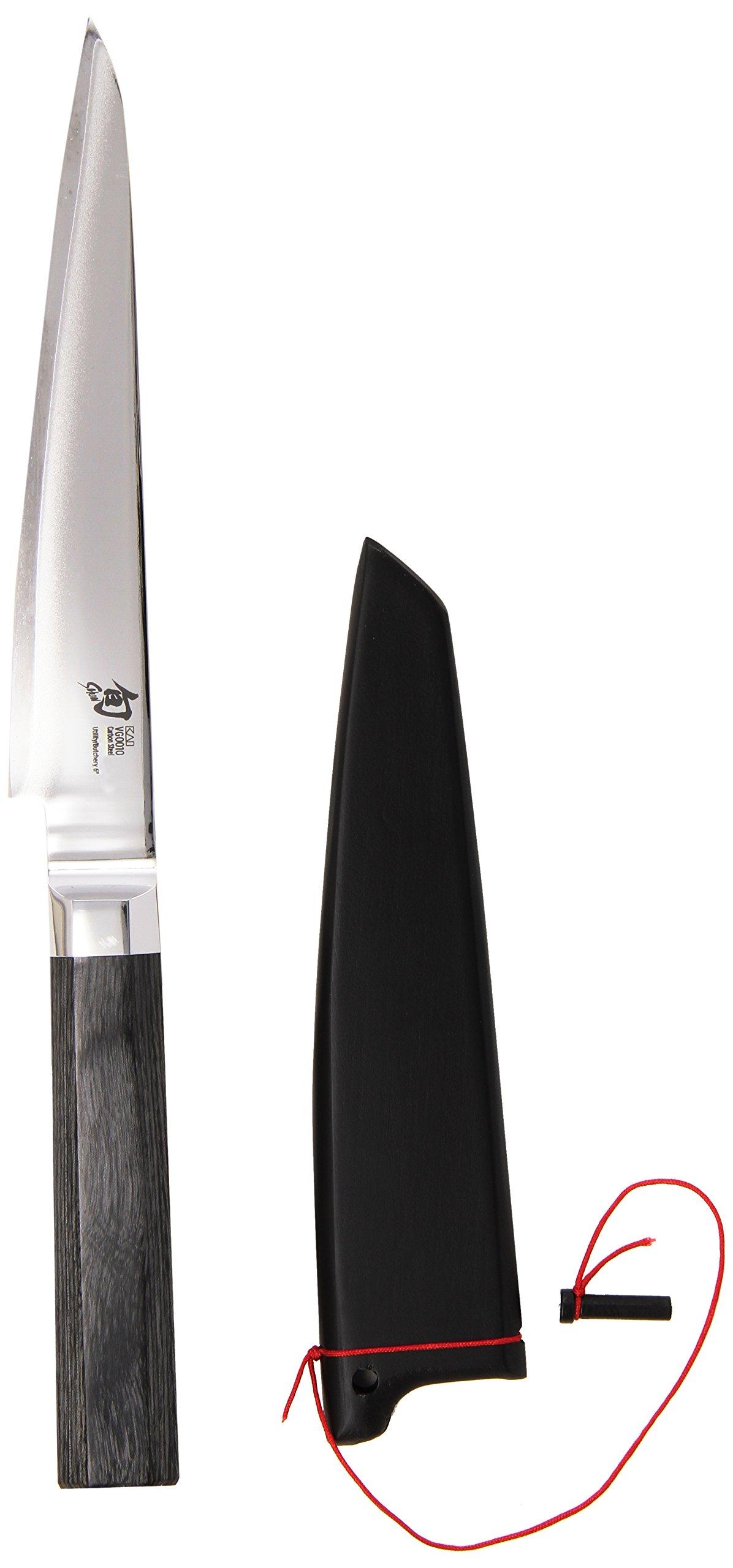 Shun VG0010 Blue Steel 6-Inch Utility/Butchery Knife