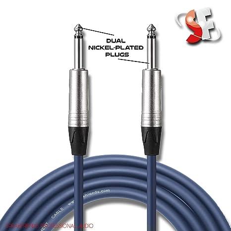 Cable de instrumentos de guitarra, cable de conexión, 1/4 recto a recto