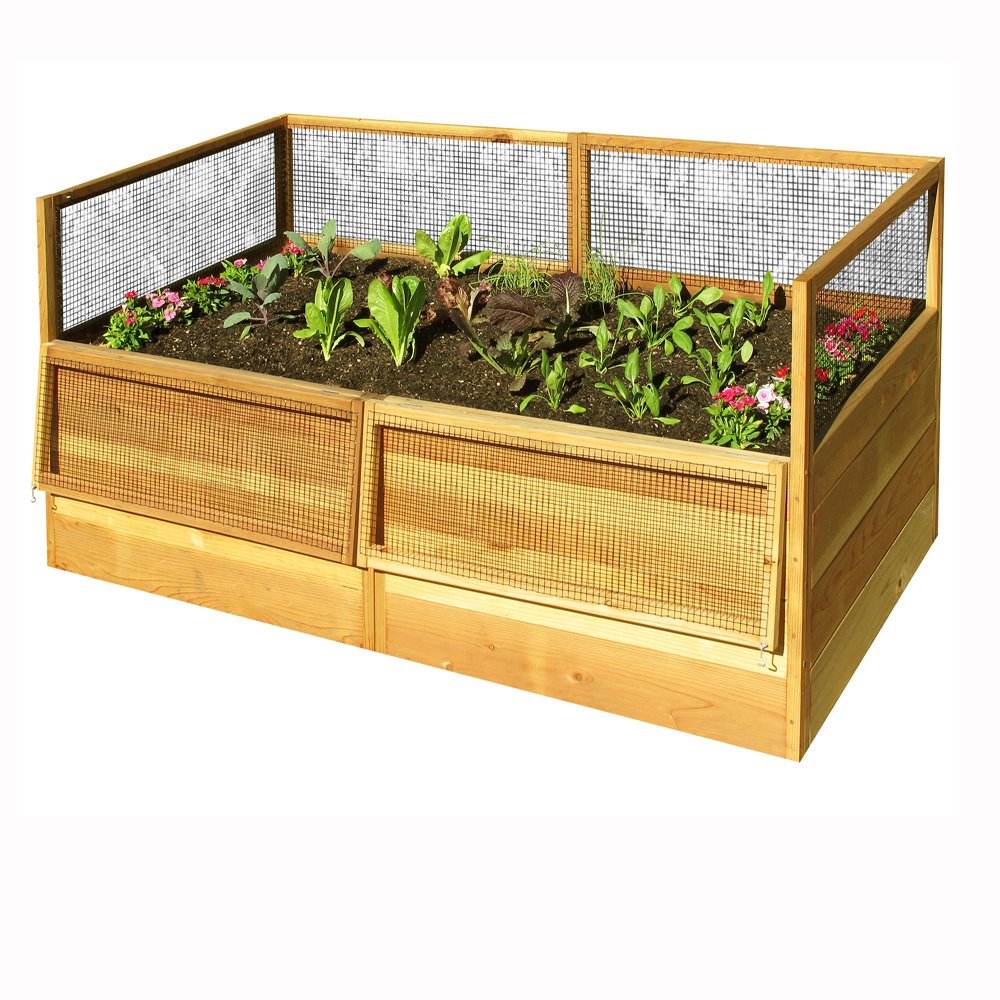 Outdoor Living Today Western Red Cedar Raised Garden Bed, 6 by 3-Feet