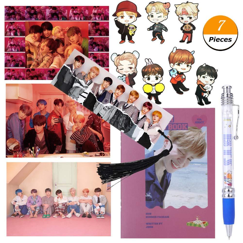 3 poster HD BTS 1 penna BTS J-HOPE 1 album fotografico BTS Bangtan Boy Set regalo per lesercito 1 segnalibro BTS GOTH Perhk Kpop BTS 1 adesivo 3D BTS