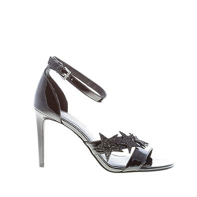a8a6630b27ba Michael Michael Kors Woman s Lexie Sandal Patent Black ...