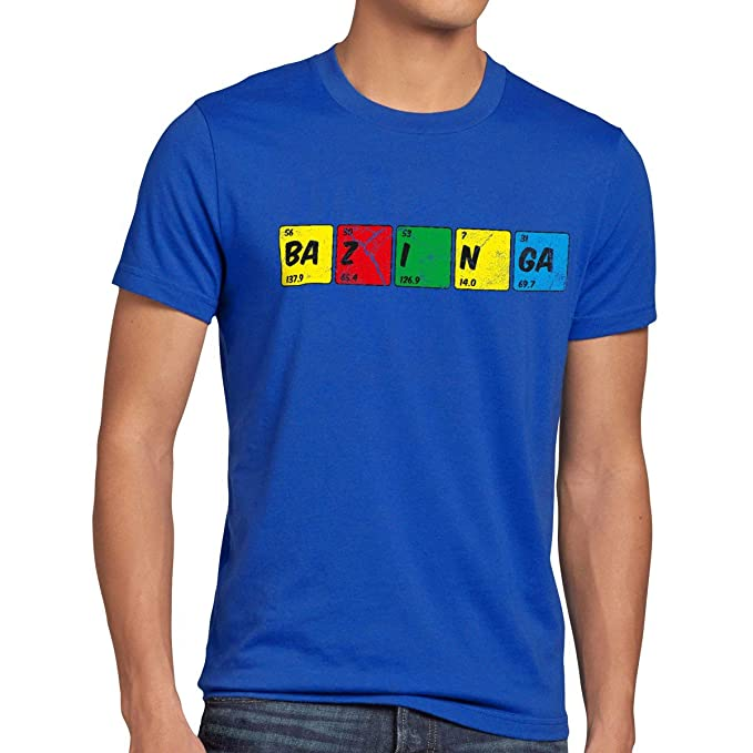 CottonCloud Sheldon Tabla Periódica Camiseta para Hombre T-Shirt química: Amazon.es: Ropa y accesorios