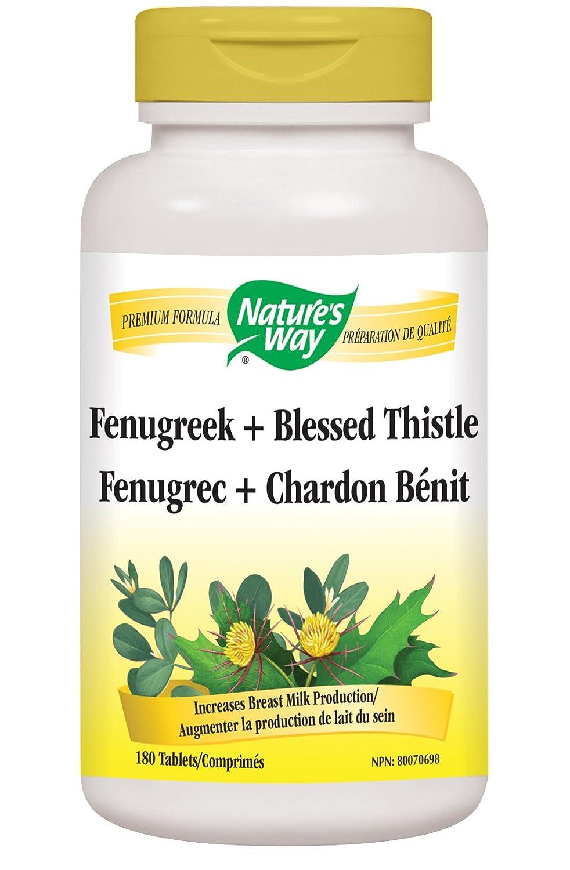 Nature's Way Fenugreek Seed + Blessed Thistle, Breastfeeding Supplement,  180 Vegetarian Tablets