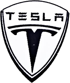 amazon tesla patch sew iron on embroidered Tesla Model S tesla motor electric cars patch sew iron on logo embroidered badge sign emblem costume by dreamhigh skyland