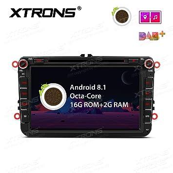 XTRONS 8 pulgadas Android 8.1 coche estéreo Octa Core HD digital multitáctil unidad de cabeza de