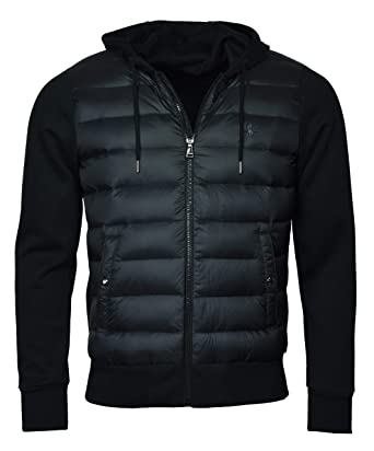 Polo Ralph Lauren Men s Hooded Down Double Knit Quilted Jacket - S - Black b0fb5cd3e