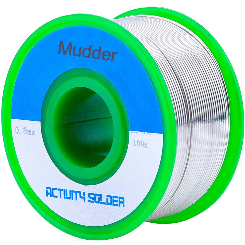 Fil de Soudure sans Plomb 0.8mm Sn99 Ag0.3 Cu0.7 avec Noyau de Colophane pour Soudage É lectrique, 100g Mudder