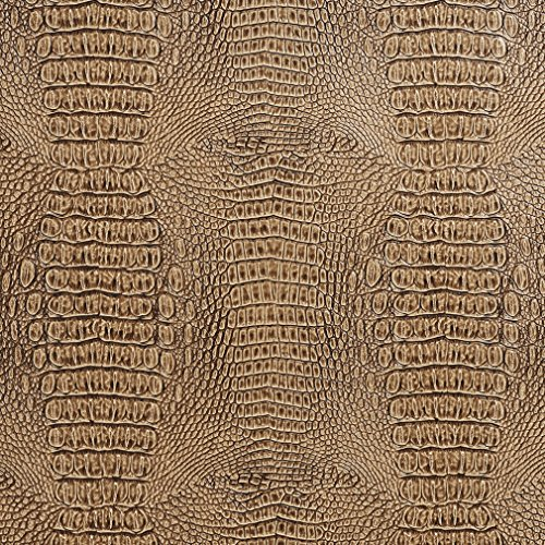 sand-beige-and-brown-reptile-snake-skin-look-vinyl-upholstery-fabric-by-the-yard