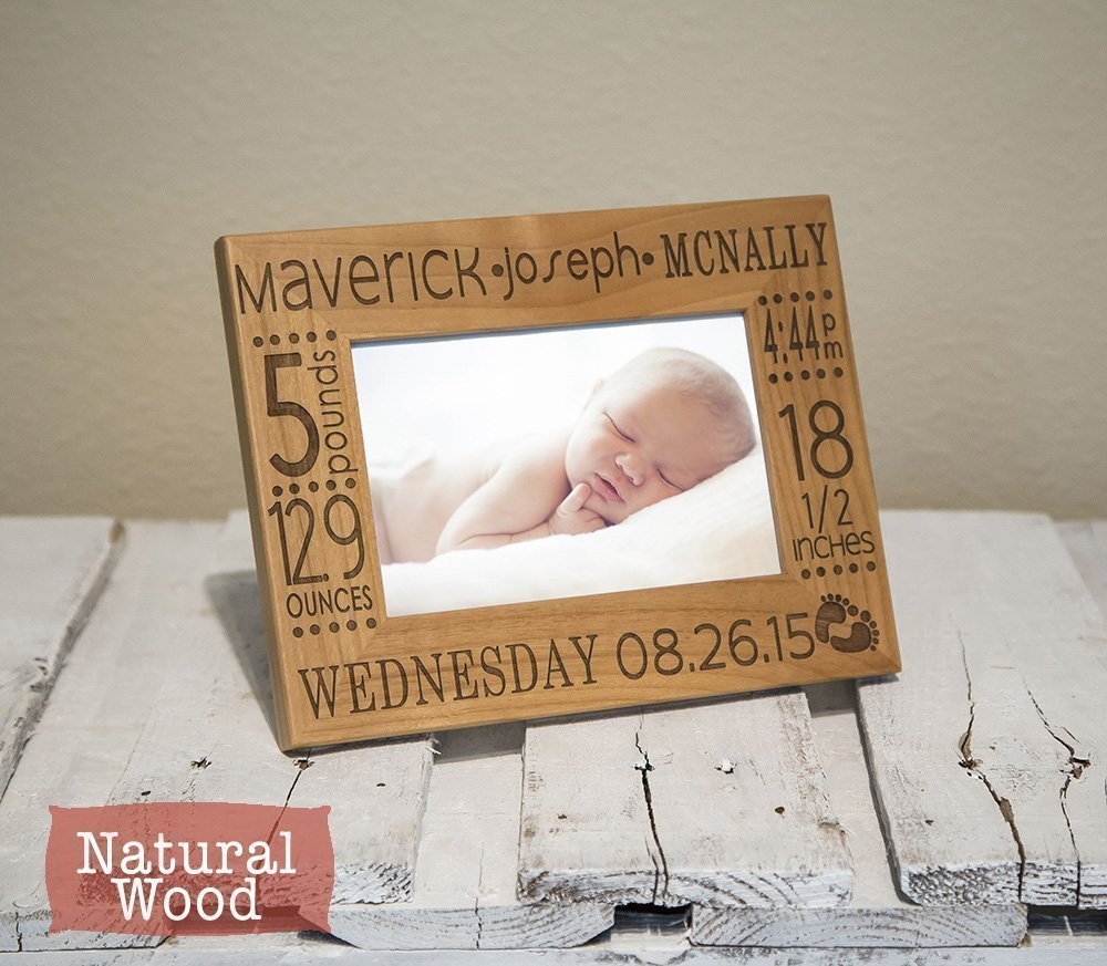 Amazon birth announcement frame personalized engraved with baby amazon birth announcement frame personalized engraved with baby name stats birth information color of your choice best baby gift handmade negle Image collections