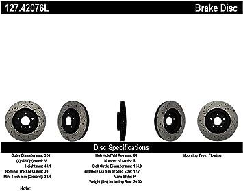 Rear Platinum Hart Drilled Slotted Brake Rotors and Ceramic Pads Camaro,Firebird