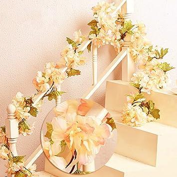 Amazon De Mzming Garland 2 Stuck X 235cm Kunstliche Blume Rattan