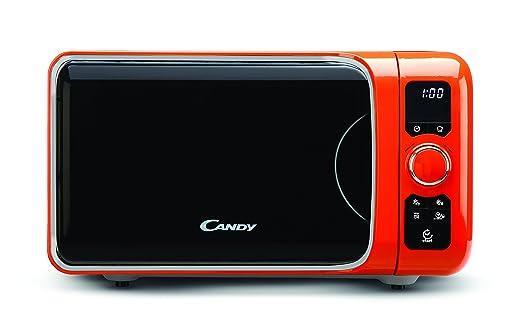 Candy EGO-G25DCO - Microondas con grill, 25 L, 900 W / 1000 W, 6 programas automáticos, color naranja
