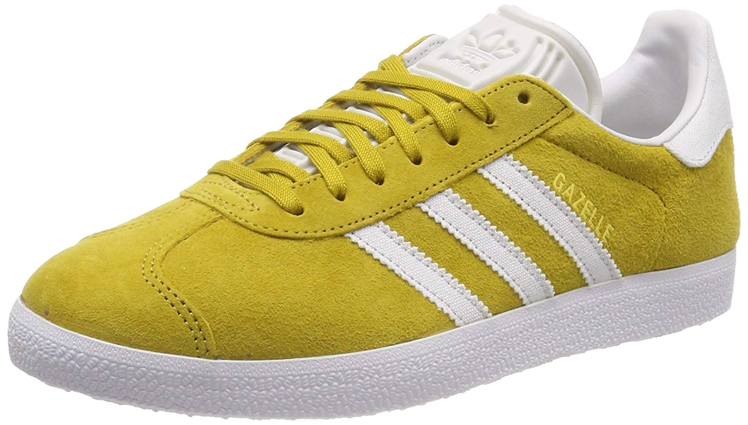 Yellow (Raw Ochre Crystal White Ftwr White Raw Ochre Crystal White Ftwr White) adidas Men's Gazelle Gymnastics shoes
