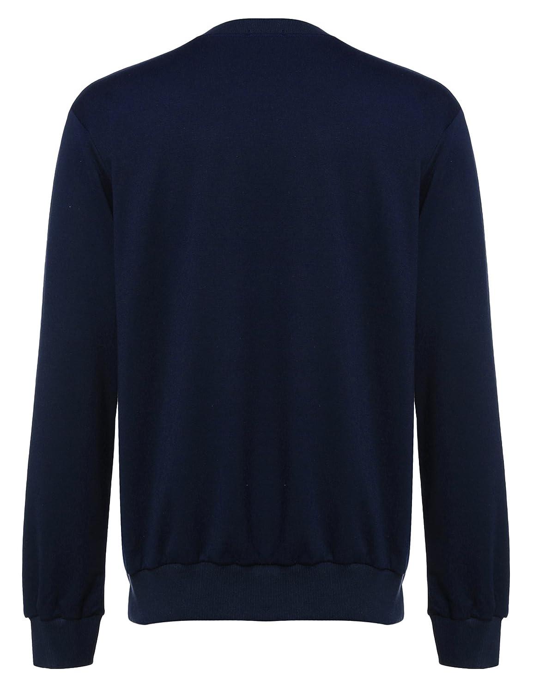 Coofandy Herren Langarmshirt Sweatshirt Freizeit Sport Pullover Loose Fit  Knotrastfarben mit 2-Tone Raglan  Amazon.de  Bekleidung 68e3ea2ba5