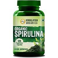 Himalayan Organics Organic Spirulian Veg Capsules - 2000mg Per Serving - Certified Organic - 120 Veg Capsules