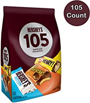 HERSHEY'S 105ct Assorted Valentines Day Chocolate Candy - 1.5kg- Includes Reese, OH Henry! & HERSHEY'S Snack Sized Bars