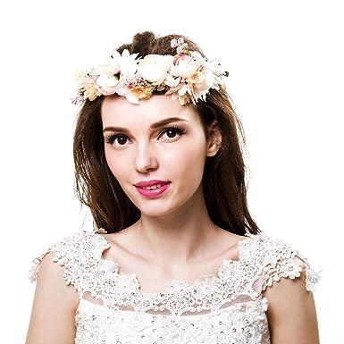 Bridal flower crown Bridal floral crown Floral wedding crown Wedding flower  headpiece Wedding flower crown Boho e5699987bd8