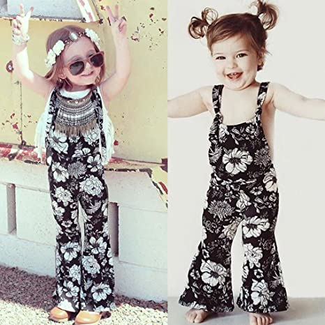 c8a103faa Amazon.com  Franterd Baby Girls Strap Rompers for Toddler Kids ...