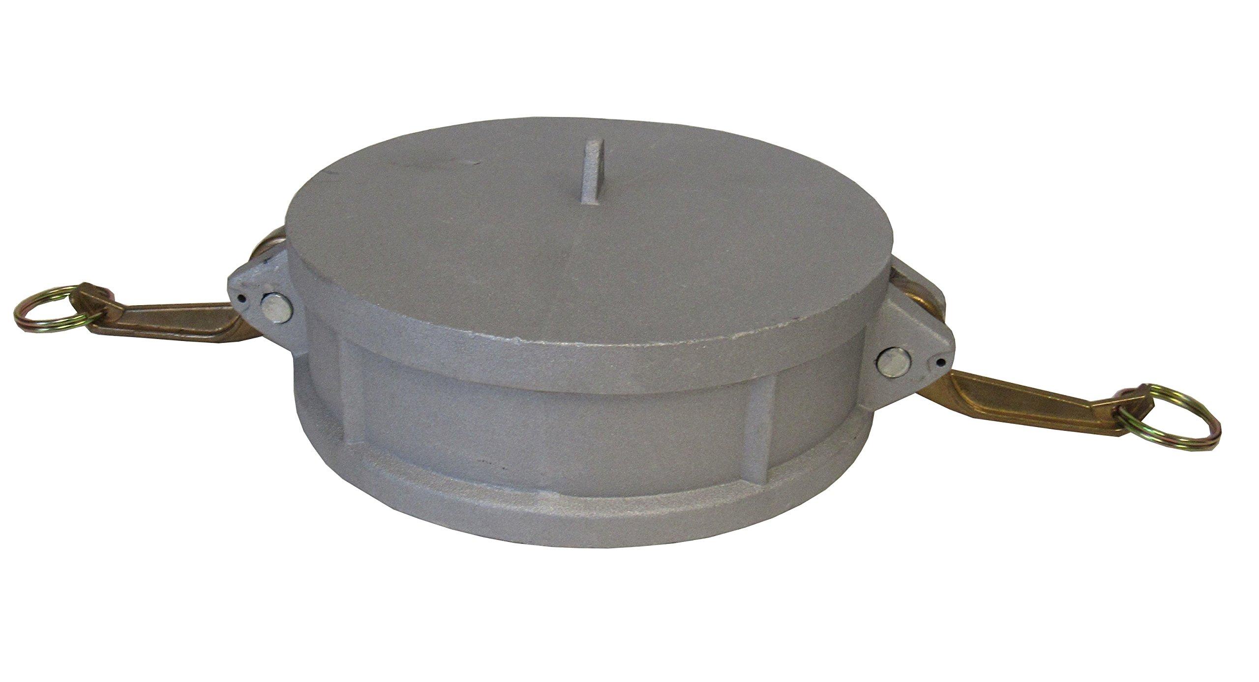 CAMLOCK CAP - 600DC CAM & GROOVE FITTING 6 INCH ALUMINUM CAP