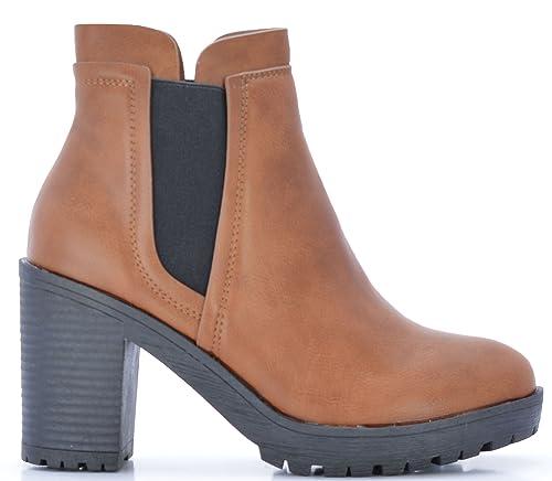Rebajas Botines de Plataforma Chelsea en Color Camel: Amazon.es: Zapatos y complementos