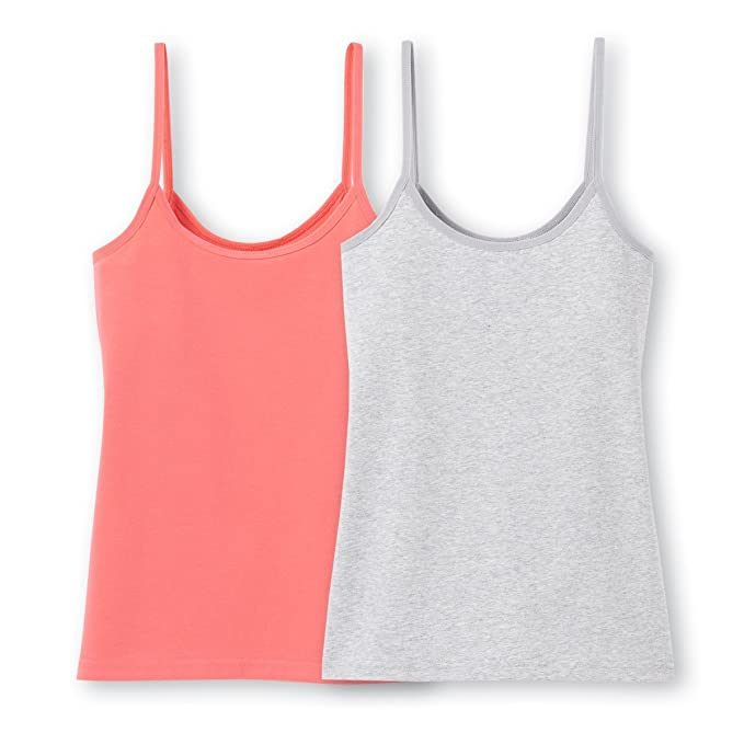 0a0cae7f9fe Amazon.com  La Redoute Collections Big Girls Pack of 2 Vest Tops ...