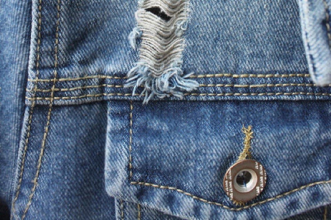GodeyesWomen Godeyes Womens Stylish Long-Sleeve Open Front /»/§/Í/â Button Down Holes Faded Denim Jacket Outwear