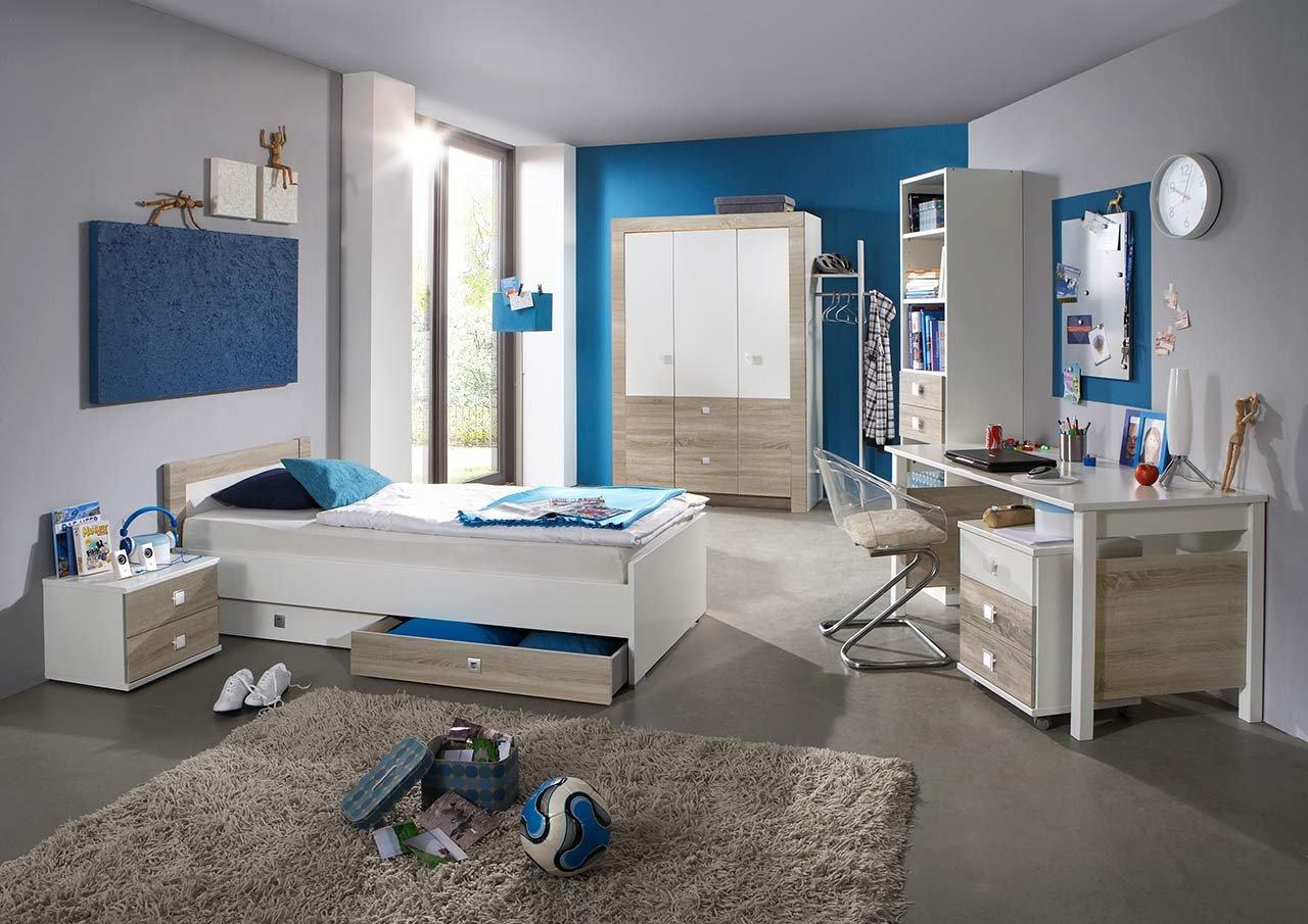 lifestyle4living Jugendzimmer, Jugendzimmermöbel, Kinderzimmer, Kinderzimmermöbel, Jugendmöbel, Jugen, Mädchen, Kleiderschrank, Nachtschrank, Bett, Teenagerzimmer