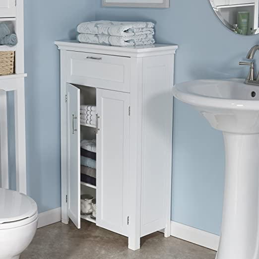 amazon home somerset door floor cabinet white kitchen bathroom uk toiletry storage