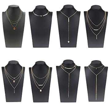 e3c6f59a8b54 Coolcoco Moda de Metal de oro Choker Collar Conjunto con Colgante Para las  Mujeres y las Niñas (8 Piezas Set)  Amazon.es  Deportes y aire libre