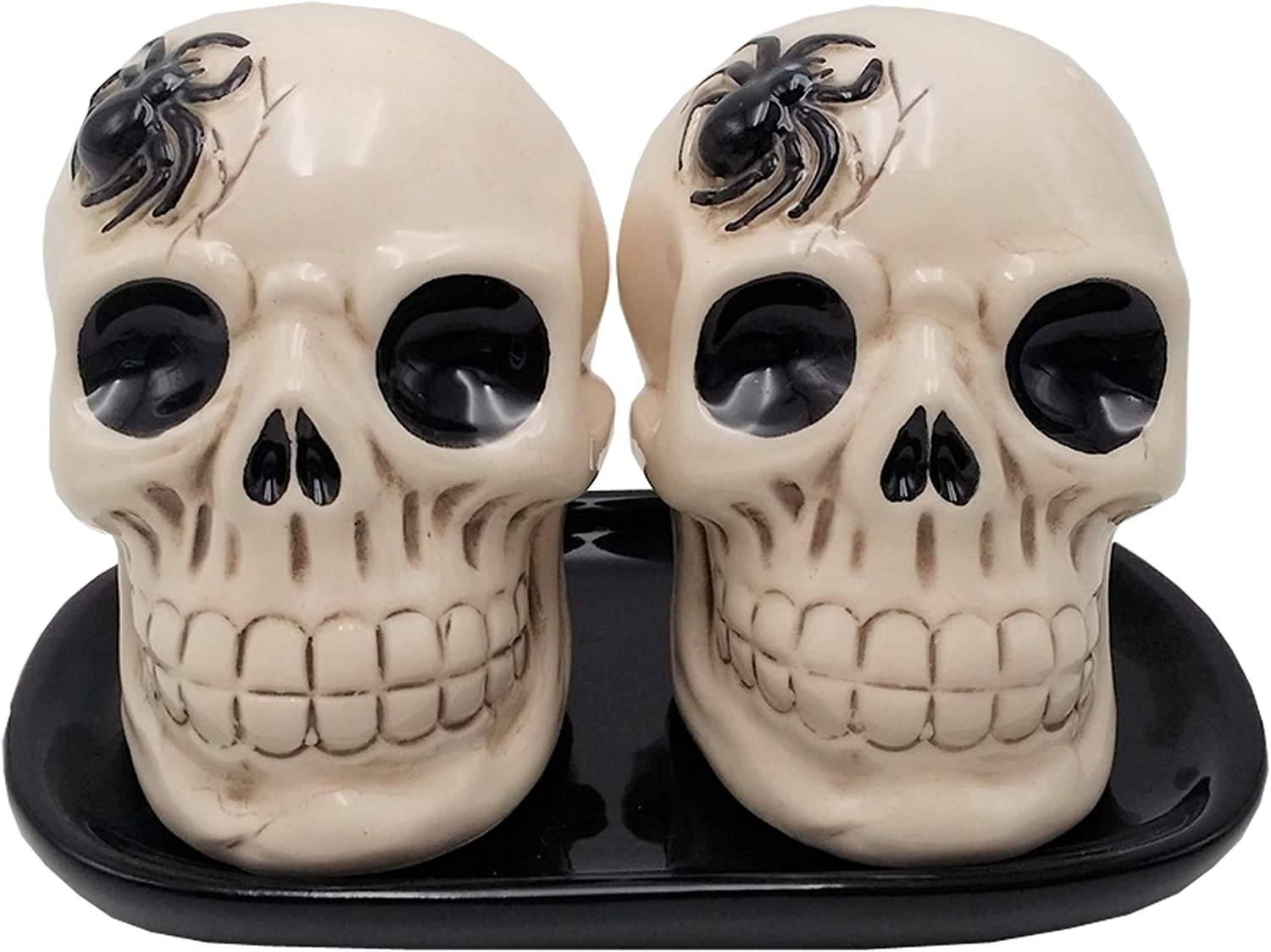 Halloween Skull Salt and Pepper Shakers