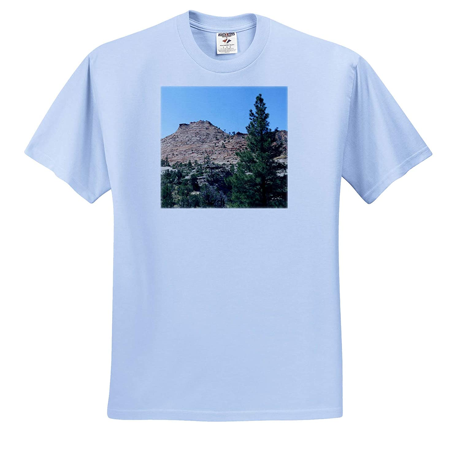 The Mountains and Trees on The Way Out of Zion and onto Orderville 3dRose Jos Fauxtographee T-Shirts Other Side of Zion