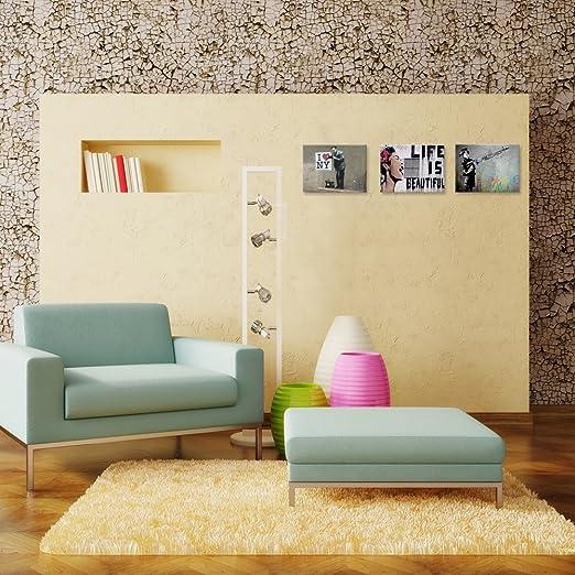 Amazon.com: Visual Art Decor Banksy Canvas Wall Art Life is ...