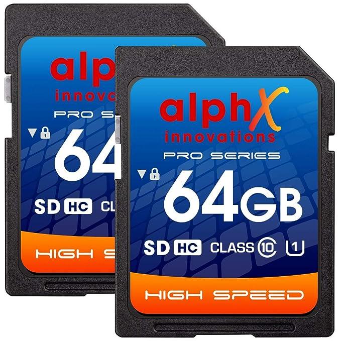 AlphX - Tarjeta de Memoria SDHC de 64 GB para cámara Digital ...