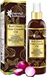 Oriental Botanics Red Onion Hair Growth Oil, 200ml - With Argan Oil, Castor, Bhringraj, Almond, 30 Oils & Extracts For Complete Hair Repair (No Mineral Oil)