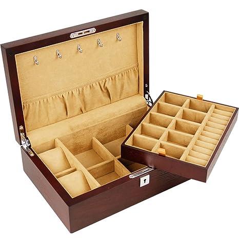 ANHPI Caja De Reloj Caja De Joyería De Almacenamiento De Reloj De Almacenamiento Y Retiro Almohadas