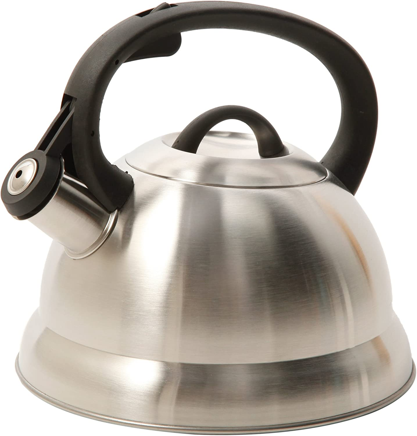 Mr. Coffee Flintshire Whistling Tea Kettle, 1.75-Quart, Stainless steel