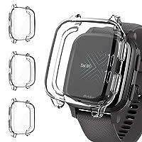 Voakod Garmin Venu Sq Screen Protector Case, TPU Rugged Bumper Case Cover All-Around Protective Plated Shell Accessories [Scratch-Proof] for Garmin Venu Sq Smartwatch