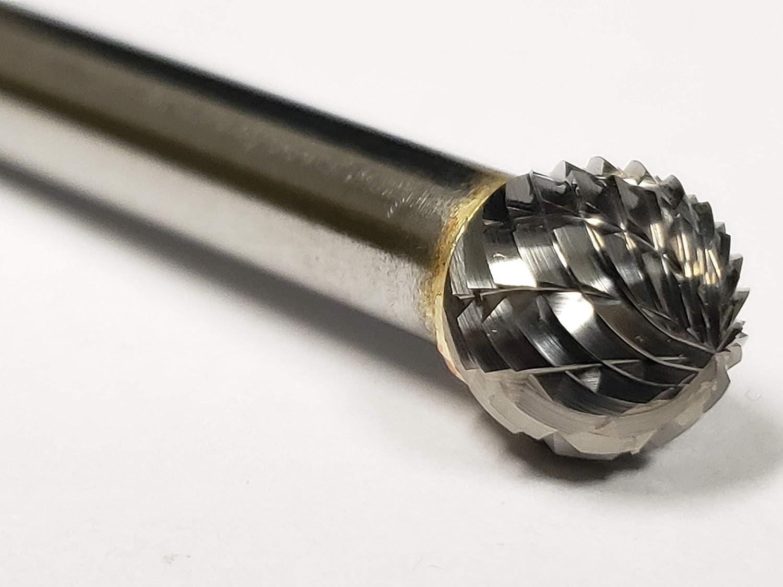 Ball Shape PART NO Carbide USA15475 3//8 SD-3 Bur Double Cut