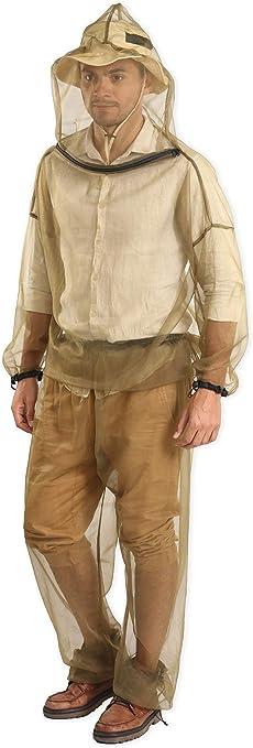 NON Sharplace Chaqueta Escudo Anti-Mosquito Insecto de Abeja Malla Repelente de Tela Seco Prendas de Vestir para Pesca Deporte Camping
