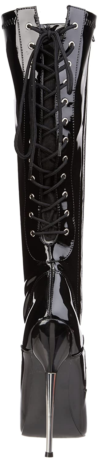 Devious DAGGER-2064 Damen Stretch Fetisch Stiefel Blk Stretch Damen Pat 11caa4