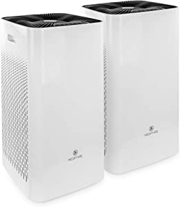 Medify MA-112 | The Only 950 CADR H13 HEPA Air Purifier | Covers up to 5,000 sq ft Every Hour | Dual air Intake with 2 Sets of Filters for Allergies, Smog, Odors, Smoke, Pets Dander, Dust (2-Pack)