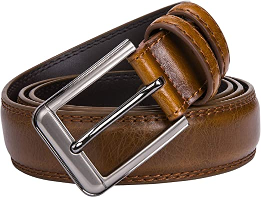"Designer Maroon Genuine Leather Mens Belts Pin Buckle Jeans Waistband Belts 44/"""