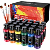 Craft Acrylic Paint, Set of 24 Colors(2 oz/Bottle), Water-Based, Non Toxic, Non Fading, Waterproof, Acrylic Paint Kit for Art